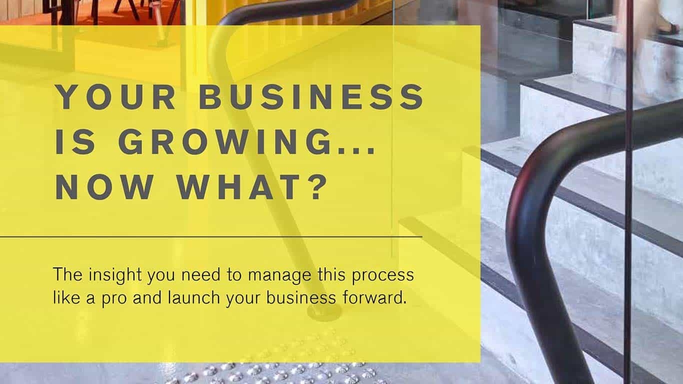 Your business is growing... now what?